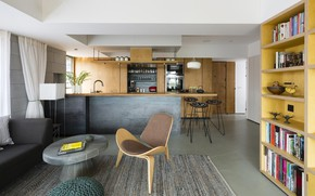 Picture interior, kitchen, living room, dining room, by Architecture Brio, Casa Brio