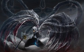 Picture wings, anime, art, guy, Bleach, Bleach, Hitsugaya, Toushiro