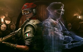 Picture weapons, the game, soldiers, guys, Tom Clancy`s Rainbow Six Siege