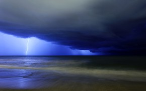 Picture the storm, clouds, lightning