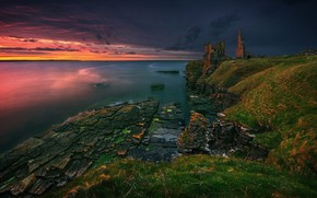 Picture sea, the sky, water, sunset, UK, Krzysztof Browko