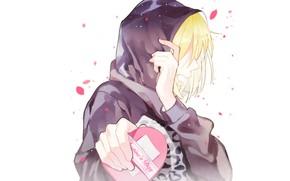 Picture anime, art, guy, heart, Valentine's day, Yuri on Ice, Yuri Plisetsky