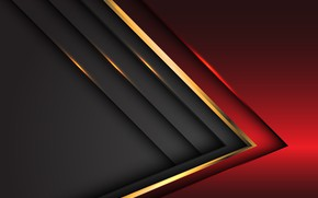Picture line, red, grey, background, gold, background