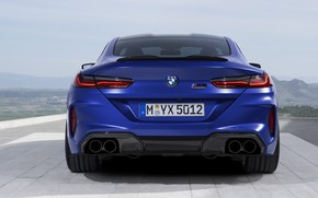 Picture BMW, supercar, rear view, Coupe, Competition, 2019, BMW M8, F92