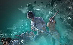 Picture weapons, soldiers, PlayerUnknown's Battlegrounds