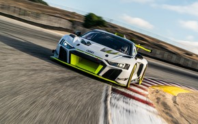 Picture Audi, Speed, Turn, Asphalt, Track, Audi R8, GT2, LMS, 2020, Audi R8 LMS GT2