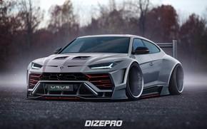 Picture Auto, Lamborghini, Machine, Rendering, Urus, Lamborghini Urus, Dmitry Strukov, Dizepro, by Dmitry Strukov