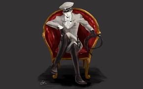 Picture chair, art, Attack Of The Titans, Shingeki No Kyojin, corporal Levi, Levi