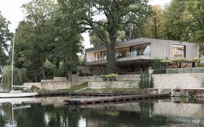 Picture Villa, Germany, pier, architecture, Berlin, the river, by Carlos Zwick Architekten, Ake House