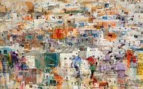 Picture the city, paint, home, overlay
