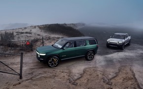 Picture pickup, SUV, 2019, R1T, Rivian, R1S