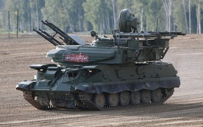 Picture polygon, shooting, Defense, Shilka, demonstration, the Russian army, Forum «ARMY 2018», ZSU-23-4M4