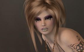 Wallpaper look, girl, makeup