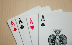 Picture card, the game, 4 aces