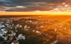 Picture Lithuania, Kaunas, sunset