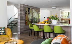 Picture design, furniture, chairs, kitchen, fruit, panels