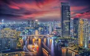 Picture the city, building, Thailand, Bangkok