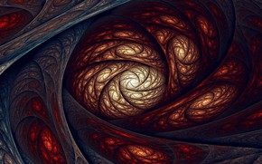 Picture abstraction, fractals, spiral, ornament, plexus, abstraction, spiral, fractals, ornament, plexus