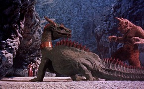 Picture Dragon, Battle, USA, Fantasy, Cyclops, 1958, Adventure, Columbia Pictures Corporation, The 7th Voyage of Sinbad, …
