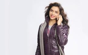 Picture look, pose, background, makeup, actress, jacket, hairstyle, brown hair, beauty, hair, Deepika Padukone, Deepika Padukon