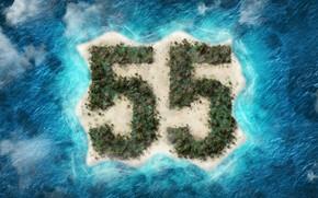 Picture sea, island, 55