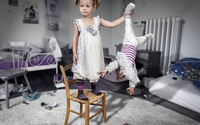 Picture children, photo, room, chairs, the situation