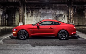 Picture Mustang, Ford, Red, Wheel, Machine, Light, Shadow, Lights, Drives