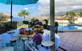 Picture sea, the city, Villa, pool, Portugal, terrace, Funchal, villa Vista Sol