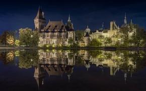 Picture night, Vajdahunyad, Castle, photo, Budapest