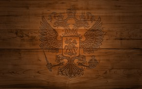 Picture tree, coat of arms, Russia, double-headed eagle