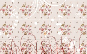 Picture flowers, background, pattern, texture, decoration