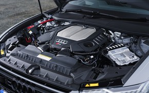 Picture Audi, universal, RS 6, under the hood, 2020, 2019, V8 Twin-Turbo, RS6 Avant, UK-version
