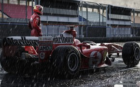 Picture Sport, Machine, Formula 1, The car, Schumacher, Michael Schumacher, Michael Schumacher, Rendering, Schumacher, The shower, …