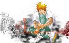 Picture style, guy, sitting, Bleach, Bleach, Ichigo Kurosaki