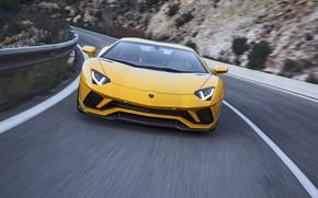 Picture Lamborghini, supercar, front view, Aventador, 2017, Aventador S