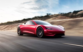 Picture car, Roadster, future, red, Tesla, 2020, Tesla Roadst