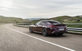 Picture coupe, BMW, highway, 2019, M8, the four-door, M8 Gran Coupe, M8 Competition Gran Coupe, F93