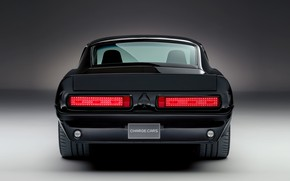 Picture Mustang, Ford, rear view, 1967, electric, 2019, Charge Cars
