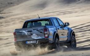 Picture grey, movement, desert, Ford, Raptor, pickup, Ranger, 2019