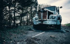 Picture road, machine, scrap