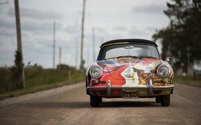 Picture porsche, 1964, 356, cabriolet, by janis jopli, art car