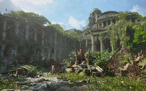 Picture the battle, Naughty Dog, Playstation 4, Uncharted 4: A Thief's End, barricades, Libertaliya