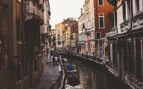 Picture Home, Street, Channel, Boats