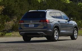 Picture asphalt, Volkswagen, Parking, Atlas, 2017, dark gray