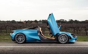 Picture McLaren, door, supercar, side view, Spider, 720S, 2019