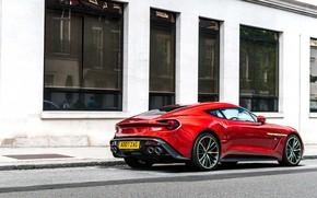 Picture red, sports car, Aston Martin Vanquish Zagato, Gran Turismо