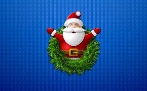 Picture Minimalism, Christmas, Background, New year, Holiday, Santa Claus, Santa Claus, Christmas, Art, Mood, New Year, …