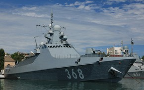Picture ship, pier, patrol, Dmitry Rogachev