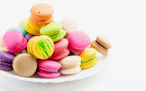 Picture colorful, cookies, macaron, almond