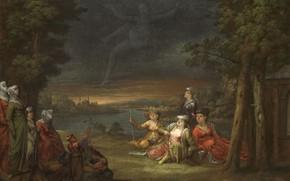 Picture oil, picture, canvas, 1737, Жан Батист Ван Мур, Jean Baptiste Vanmour, Турчанки в окрестностях Константинополя …